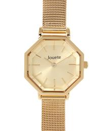 Jouete(ジュエッテ)のタイムピース 八角形 メッシュベルト(ゴールド)(腕時計)