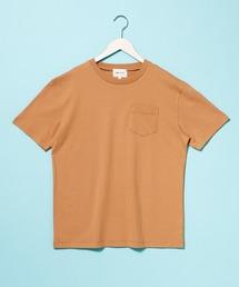 コーマビッグシルエットポケットカットソー(1/2 sleeve)ブラウン