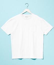 コーマビッグシルエットポケットカットソー(1/2 sleeve)オフホワイト
