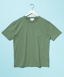 コーマビッグシルエットポケットカットソー(1/2 sleeve)オリーブ