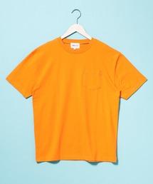 コーマビッグシルエットポケットカットソー(1/2 sleeve)オレンジ