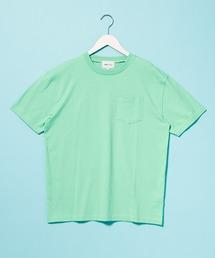 コーマビッグシルエットポケットカットソー(1/2 sleeve)ライトグリーン