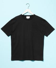 コーマビッグシルエットポケットカットソー(1/2 sleeve)ブラック