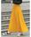 Re:EDIT(リエディ)の「ロング丈ジョーゼットプリーツスカート(スカート)」 マスタード