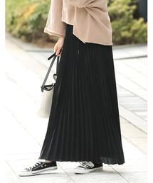 Re:EDIT(リエディ)のロング丈ジョーゼットプリーツスカート(スカート)