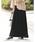 Re:EDIT(リエディ)の「ロング丈ジョーゼットプリーツスカート(スカート)」 ブラック