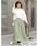 Re:EDIT(リエディ)の「ロング丈ジョーゼットプリーツスカート(スカート)」|詳細画像