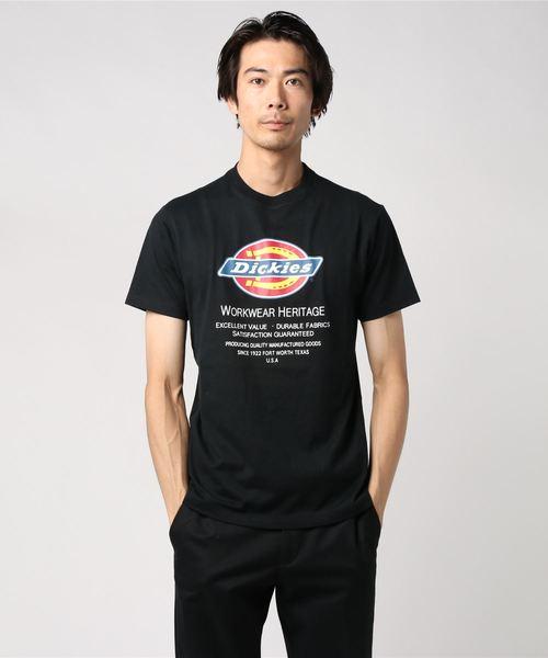 Dickies(ディッキーズ)の「Dickiesロゴプリント半袖Tシャツ(Tシャツ/カットソー)」|ブラック