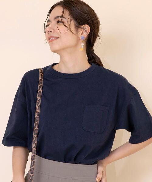 【WEB限定】USAコットンポケットビッグTシャツ(ポケT)#