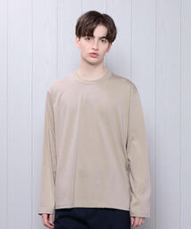 <H>CREW NECK LONG SLEEVE/Tシャツ