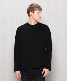 <H>CREW NECK LONG SLEEVE/Tシャツ