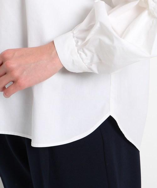 【洗える】タイプライターツイストスキッパーシャツ