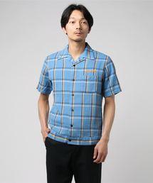 Hysteric Lovers刺繍 半袖オープンカラーシャツブルー系その他