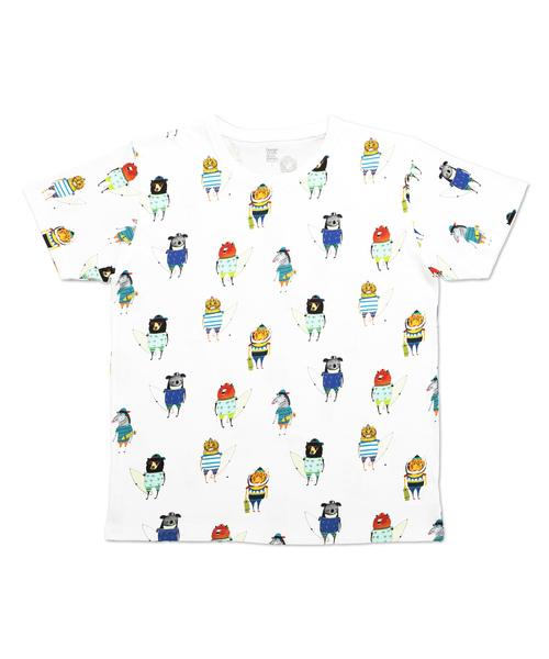 コラボレーションTシャツ/サーファーズアンドスケーターズ(アシュレイパーシバル)(ホワイト)