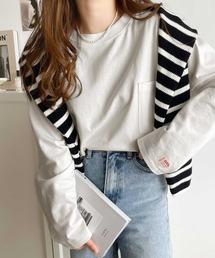 classicalelf(クラシカルエルフ)のサイドスリットビッグロングTシャツ(Tシャツ/カットソー)