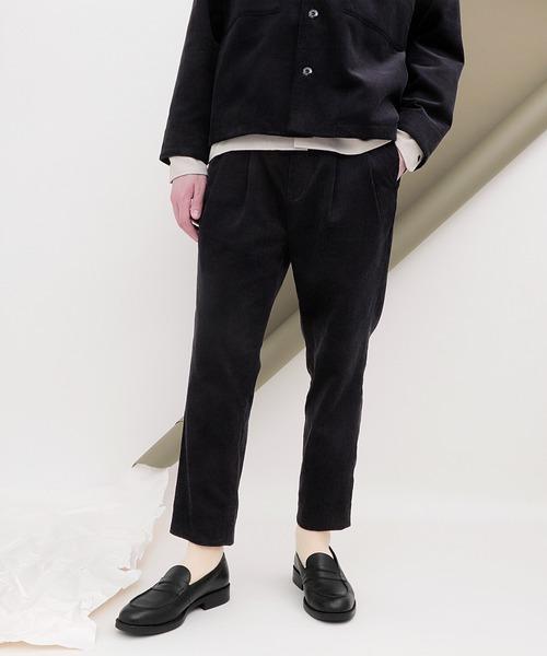 ヘヴィーコーデュロイ 2タックワイドテーパードパンツ(EMMA CLOTHES)