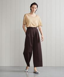 <H>TWILL TUCK TAPERED PANTS/パンツ