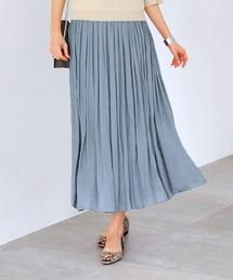 STYLE DELI(スタイルデリ)の【Made in JAPAN】V.サテンギャザーロングスカート(スカート)