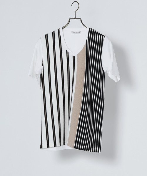ストライプパターンTシャツ
