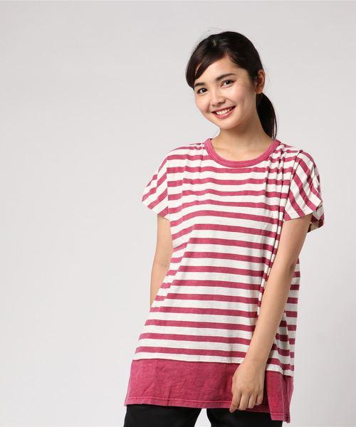 【Nanea】裾切替えビッグTシャツ