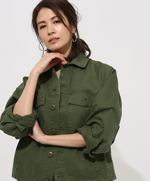 AZUL BY MOUSSY(アズールバイマウジー)のMILITARY SHORT JACKET(ブルゾン)