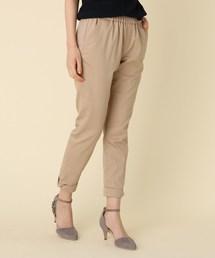 couture brooch(クチュールブローチ)の【WEB限定サイズ(SS・LL)あり】【洗える】裾リボンモチーフチノパンツ(パンツ)