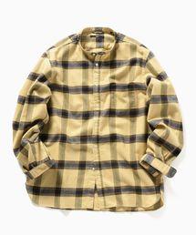 SHIPS(シップス)のSC: チェック バンドカラー ネルシャツ(シャツ/ブラウス)