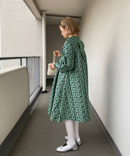 【SANSeLF】 jacquard flower dress sanw21