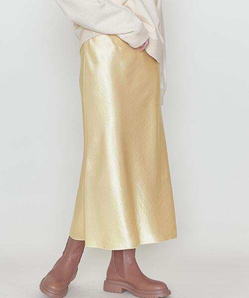 <ASTRAET(アストラット)>サテン マーメイドスカート