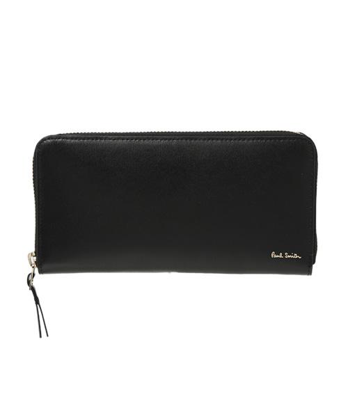 Paul Smith(ポールスミス)の「シティエンボス ラウンドジップ長財布 / 863843 P307(財布)」|ブラック