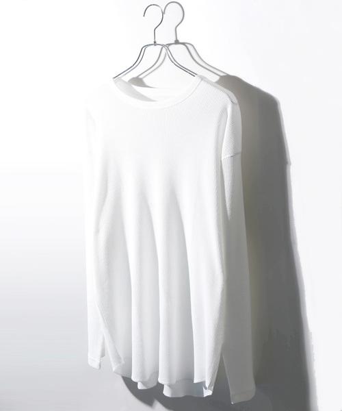 WEGO(ウィゴー)のWEGO/ワッフルラウンドカットソー(Tシャツ/カットソー)