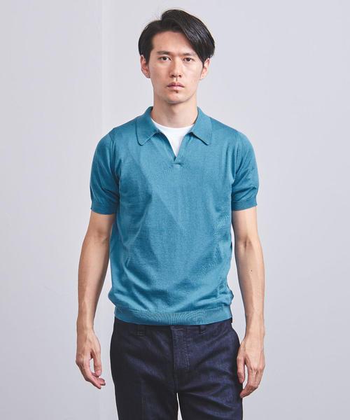 <JOHN SMEDLEY(ジョン・スメドレー)> スキッパー ポロシャツ