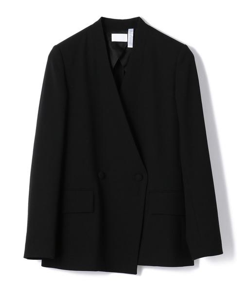 COL PIERROT FOR ESTNATION / ノーカラーVネックジャケット