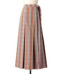 Drawer マドラスチェックサイドリボンスカート