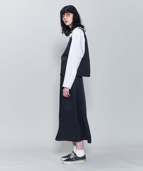 <6(ROKU)>SATIN SKIRT/スカート