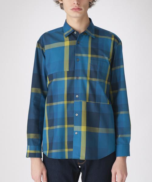 コンビネーションクレストブリッジチェックシャツ