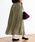 coen(コーエン)の「【新色追加・WEB限定カラー⇒グリーン】クリンクルプリーツロングスカート(スカート)」|オリーブ