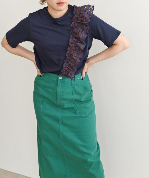 メイドインジャパン!レースフリルTシャツ