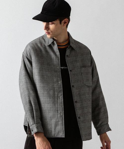 【WEB限定】 by TR チェック キルティング ビッグ シャツ