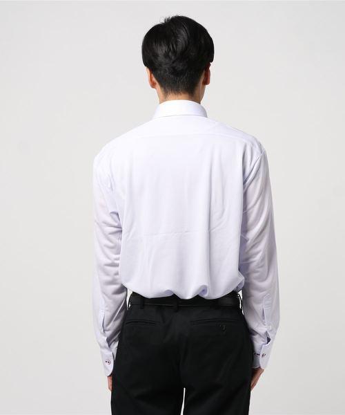 アイシャツ ラベンダー チドリ柄 WD