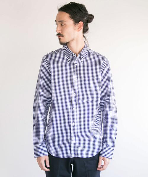 MANUAL ALPHABET ギンガムBDシャツ