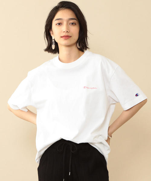【予約】【別注】<Champion(チャンピオン)>カラーロゴTシャツ