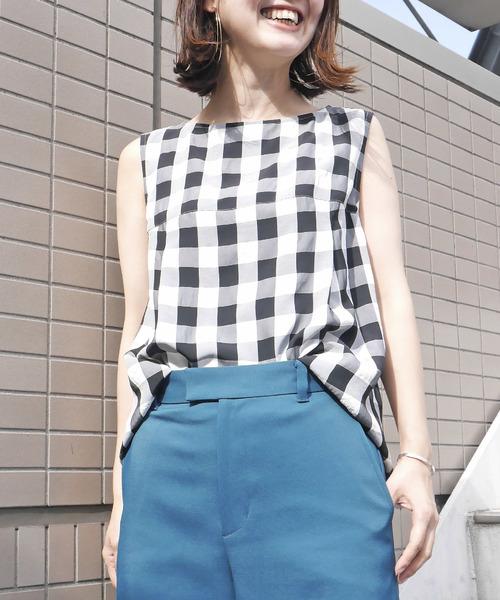 【予約】 【セール】レースアップギンガムチェック2WAYブラウス(シャツ/ブラウス)|Loulou Willoughby(ルルウィルビー)のファッション通販, denpcy:a023bde5 --- stratagemfx.com