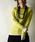 and it_(アンドイット)の「フェイクレイヤードくしゅくしゅ長袖Tシャツカットソー【ロンT】(Tシャツ/カットソー)」|イエロー