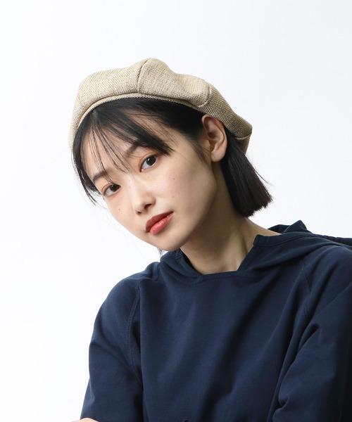 ▽ リネン調ベレー帽 / LINEN-STYLE BERET