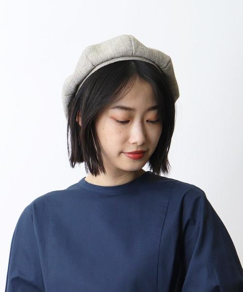 リネン調ベレー帽 / LINEN-STYLE BERET