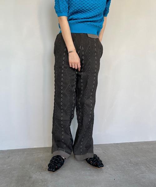 【SANSeLF】geometric pattern pants sanw24