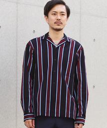 TOMORROWLAND(トゥモローランド)のラッセル ストライプオープンカラーシャツ(シャツ/ブラウス)