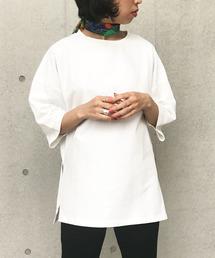Settimissimo(セッティミッシモ)のサイドスリットオーバーサイズTシャツ(Tシャツ/カットソー)