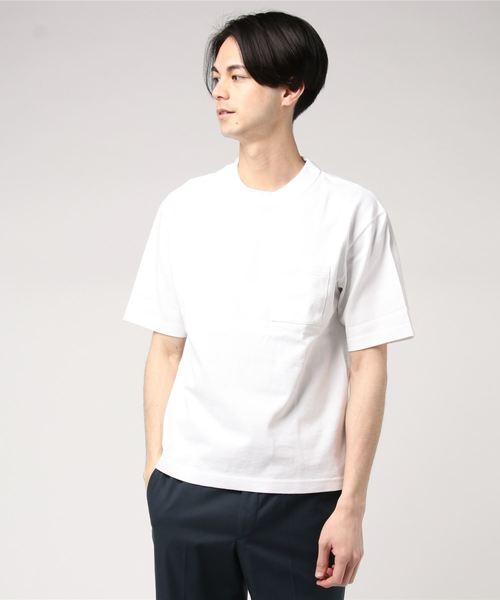 BEAUTY&YOUTH UNITED ARROWS(ビューティアンドユースユナイテッドアローズ)の古着「半袖Tシャツ(Tシャツ/カットソー)」|ホワイト